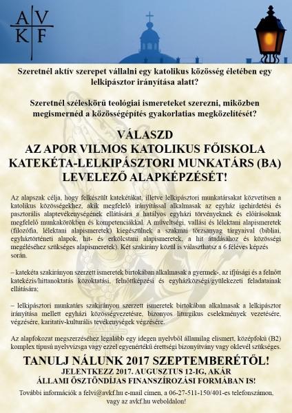 Katekéta képzési plakát